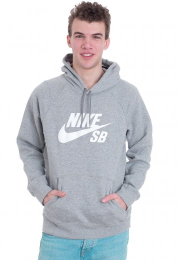 Nike - SB Icon Dark Grey Heather/White - Hoodie