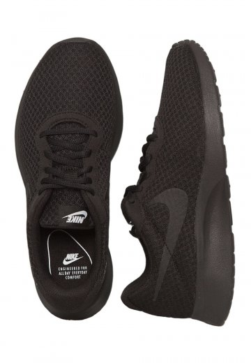 Nike - Tanjun Black/Black/White - Girl Shoes