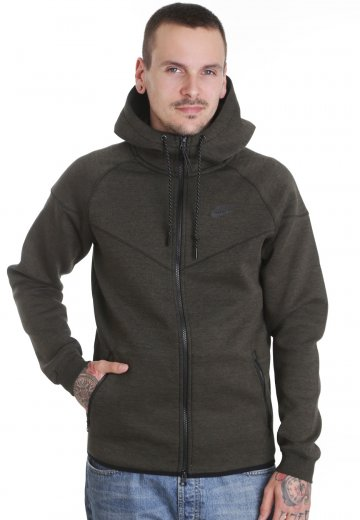 a9f151a12f4f Nike - Tech Fleece Windrunner Full-Zip Cargo Khaki Black Heather Black -  Windbreaker - Streetwear Shop - Impericon.com UK