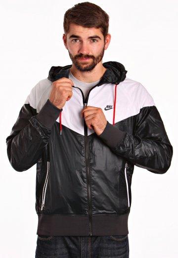 Nike - Windrunner Black White Sport Red Black - Track Jacket - Streetwear  Shop - Impericon.com UK 23e1bfe50
