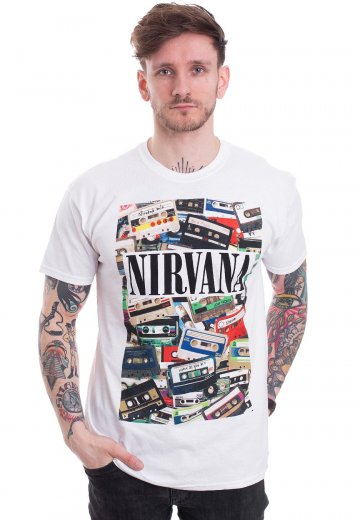 Nirvana - Cassettes White - T-Shirt