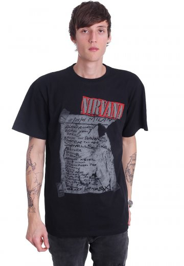 31699be6 Nirvana - Milan Setlist - T-Shirt - Official Grunge Merchandise Shop -  Impericon.com Worldwide
