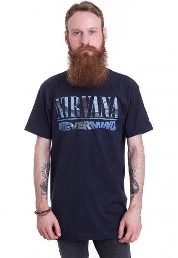1be0c5b3 Nirvana - Nevermind Album Playlist Navy - T-Shirt - Official Rock  Merchandise Shop - Impericon.com US