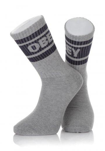 Obey - Cooper Heather Grey/Navy - Socks