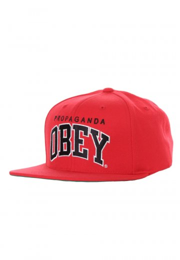 8c51e34830245 Obey - Throwback Red Snapback - Cap - Streetwear Shop - Impericon.com UK