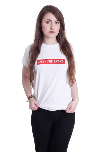Obey The Brave - New Logo White - T-Shirt