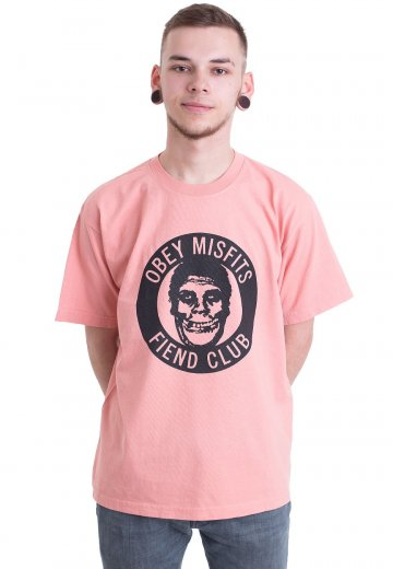 Obey X Misfits - The OBEY Fiend Club Coral - T-Shirt - Official Merchandise  Shop - Impericon.com UK 15cb1a63a63