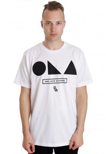 One Love Apparel - Shapes White - T-Shirt