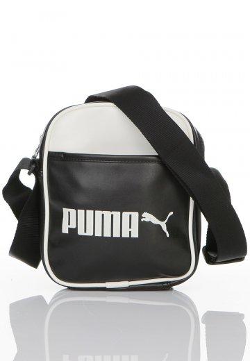 cb520f87d4 Puma - Campus Portable Black Whisper White - Bag - Streetwear Shop -  Impericon.com AU