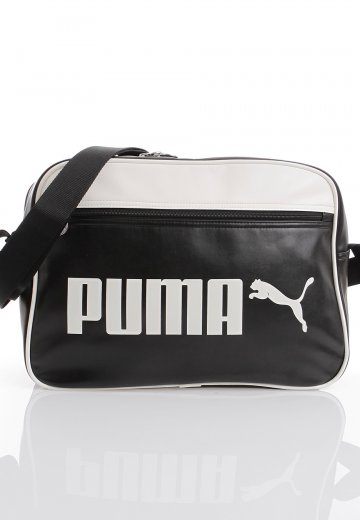 5f2ae32eff Puma - Campus Reporter Black Whisper White - Bag - Streetwear Shop -  Impericon.com AU