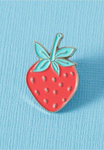 Punky Pins - Strawberry Enamel - Pin