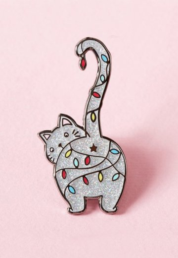 Punky Pins - Christmas Kitty Enamel - Pin