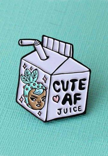 Punky Pins - Cute AF Juice Cartoon Enamel - Pin