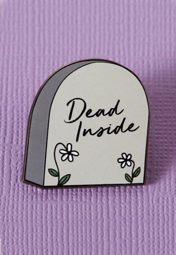 Punky Pins - Dead Inside Tombstone Enamel - Pin