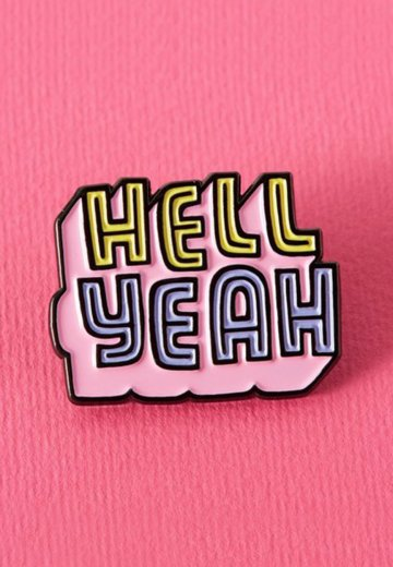 Punky Pins - Hell Yeah Soft Enamel - Pin