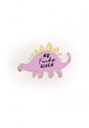 Punky Pins - No Fucks Given Dinosaur Enamel - Pin