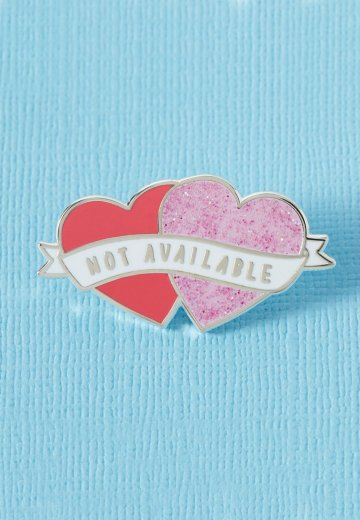 Punky Pins - Not Available Heart Shaped Enamel - Pin
