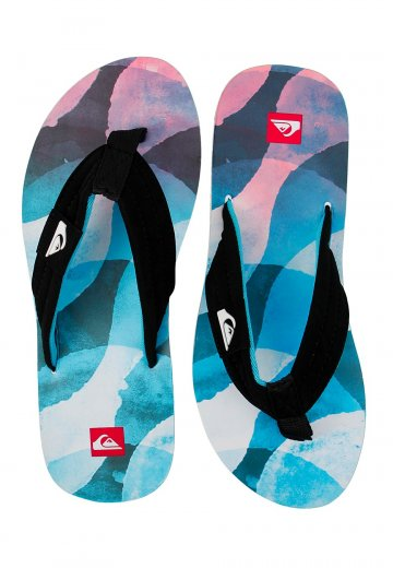 0869a2ff8 Quiksilver - Quilted Slab Black White Blue - Sandals - Impericon.com US