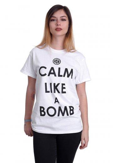 Rage Against The Machine - Calm Like A Bomb White - T-Shirt