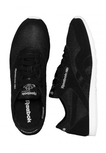 f456ba489fc Reebok - CL Nylon Slim Mesh Black White - Girl Shoes - Impericon.com  Worldwide