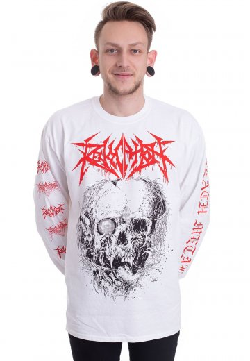Revocation - Skull White - Longsleeve