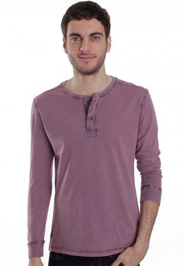 7cb771a4e137 RVCA - Tunis Color Purple Henley - Longsleeve - Streetwear Shop -  Impericon.com AU