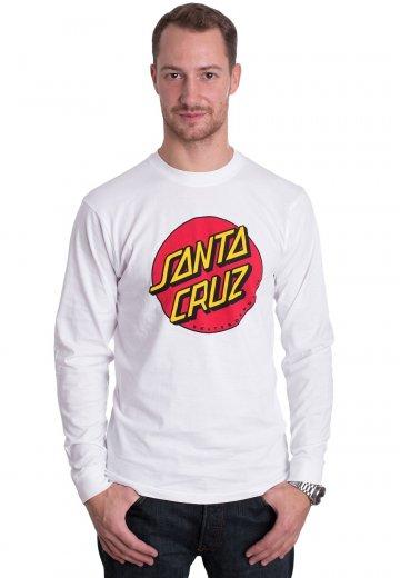 Santa Cruz - Classic Dot White - Longsleeve