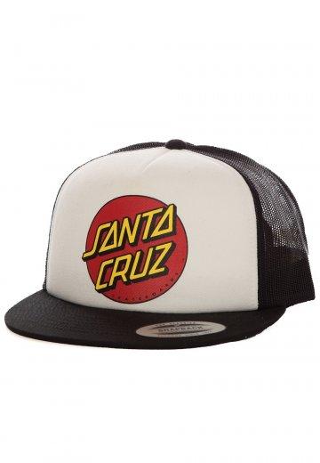 Santa Cruz - Classic Dot White/Black - Cap