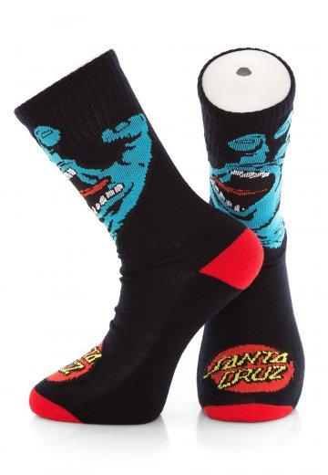 Santa Cruz - Screaming Hand Black - Socks