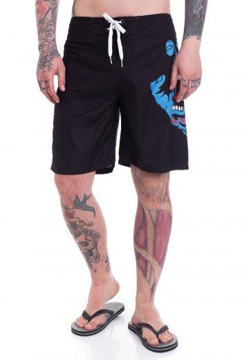 Santa Cruz - Screaming Hand Black - Board Shorts
