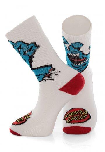Santa Cruz - Screaming Hand White - Socks