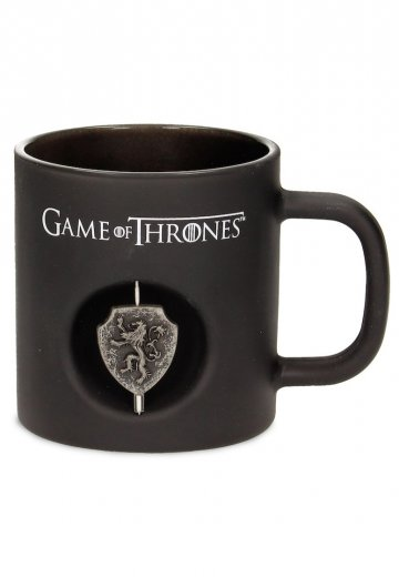 Game Of Thrones - Lanister 3D Rotating Emblem Black Glass 3D - Mug