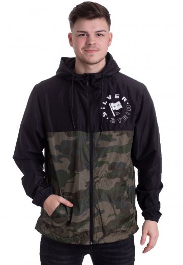 Silverstein - Flag Black/Forest Camo - Windbreaker