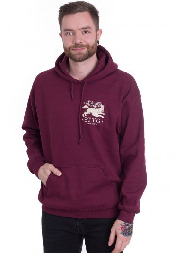 Stick To Your Guns - Cave Canem Burgundy - Hoodie