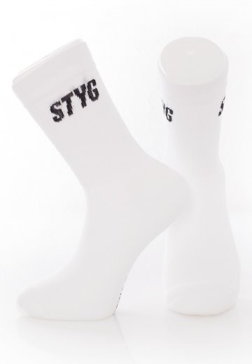 Stick To Your Guns - True View White - Socks