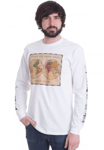 Stick To Your Guns - True View Cover White - Longsleeve