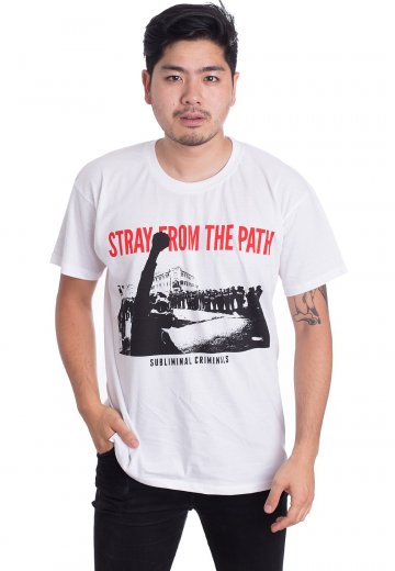 Stray From The Path - New Protest White - T-Shirt