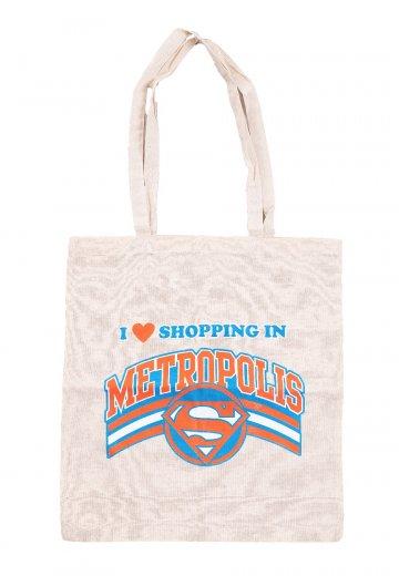 Superman - Shopping In Metropolis White - Tote Bag