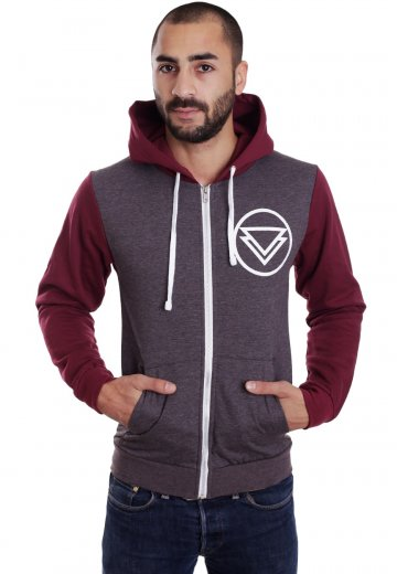 The Ghost Inside - For Whom The Bell Tolls Charcoal/Burgundy - Zipper