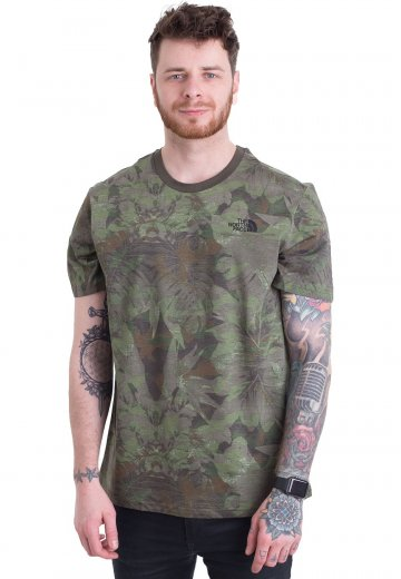 db191483 The North Face - Simple Dome Eng. Green Camo - T-Shirt - Streetwear Shop -  Impericon.com UK