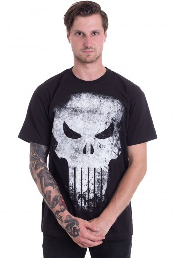 3044d1efe The Punisher - Distressed Skull - T-Shirt - Impericon.com Worldwide