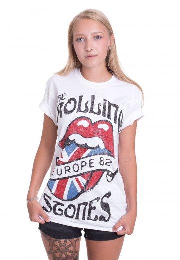 89651567 The Rolling Stones - Europa Tour 82 White - T-Shirt - Official Blues Rock  Merchandise Shop - Impericon.com UK