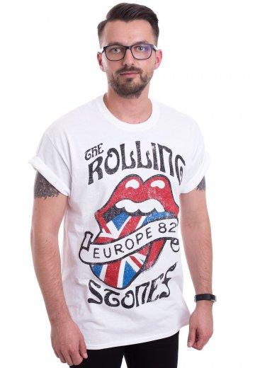 0d594990 The Rolling Stones - Europa Tour 82 White - T-Shirt - Official Blues Rock  Merchandise Shop - Impericon.com AU