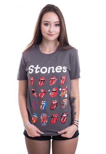 d17ea507219505 The Rolling Stones - No Filter Evolution Charcoal Grey - T-Shirt - Official  Rock Merchandise Shop - Impericon.com UK