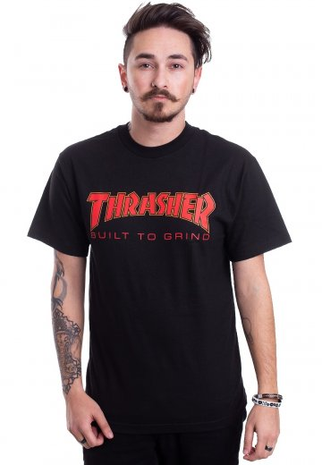 Thrasher x Independent - Thrasher BTG Black - T-Shirt