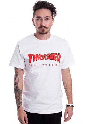 6a48fdd837be Thrasher x Independent - Thrasher BTG White - T-Shirt - Streetwear ...