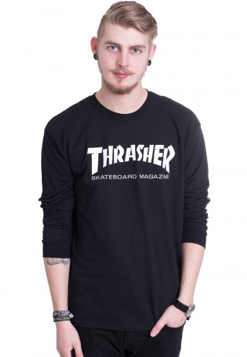 cd5e3570594 Thrasher - Thrasher Skate-Mag Black - Longsleeve - Streetwear Shop -  Impericon.com UK