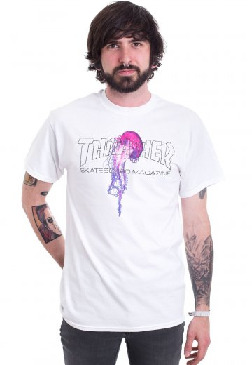 eba5fd62b91e Thrasher - Thrasher Atlantic Drift White - T-Shirt - Streetwear Shop ...