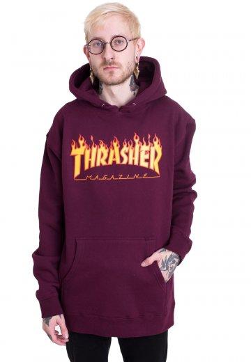 ecd5b01af8f1 Thrasher - Thrasher Flame Maroon - Hoodie - Streetwear Shop - Impericon.com  Worldwide