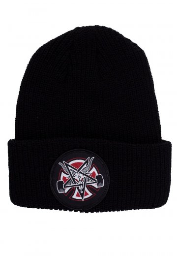 Thrasher x Independent - Thrasher Pentagram Cross Black - Beanie